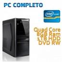 COMPUTER DESKTOP INTEL QUAD CORE/8GB/1TB