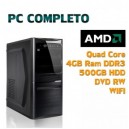 COMPUTER DESKTOP AMD QUAD CORE/4GB/500GB/WIFI